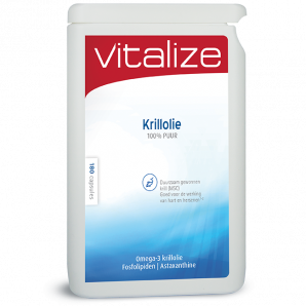 Vitalize Krillolie 100% puur - 180 capsules brievenbusverpakking