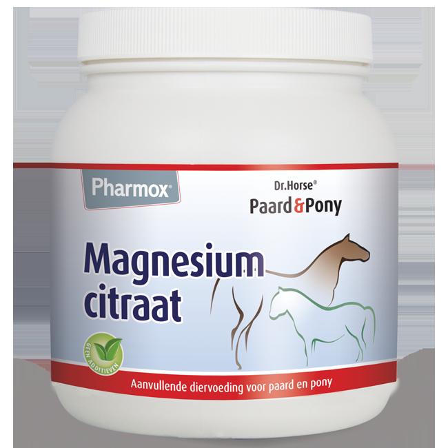 Foto van Pharmox Paard&Pony Magnesiumcitraat 500 gram