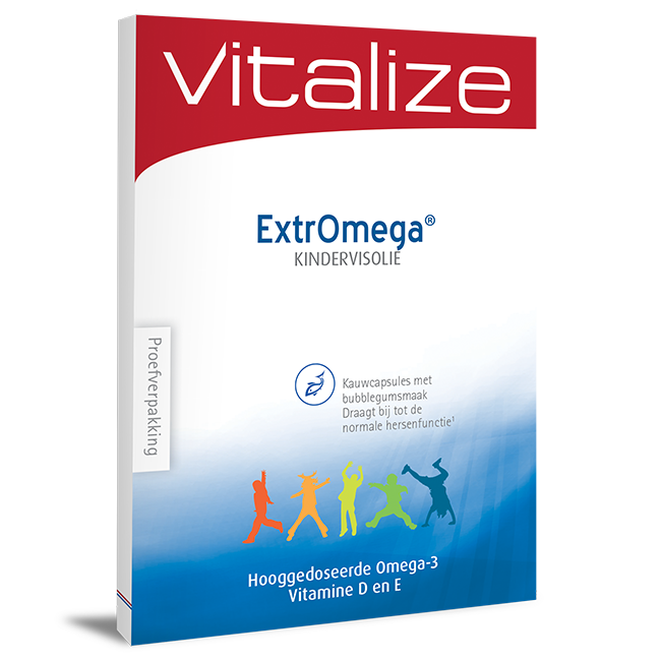 Afbeelding van Vitalize ExtrOmega® Kindervisolie 20 caps Proefverpakking